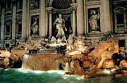 Architecture Tapestries Textiles Posters - The Trevi Fountain Poster by Traveler Scout