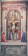 Architecture Photos Art - The Trinity by Masaccio by Melany Sarafis
