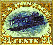 Wingsdomain Art and Photography - The Upside Down Biplane Stamp -...