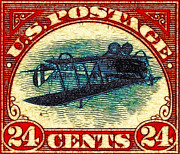 Wingsdomain Art and Photography - The Upside Down Biplane Stamp - 20130119