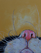 Close Up Painting Metal Prints - The Whiskers Metal Print by Patti Schermerhorn