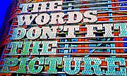 Electric Signs Prints - The Words Print by Randall Weidner