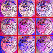 Symmetry Digital Art - There Is Never Enough Time 20130606magenta by Wingsdomain Art and Photography
