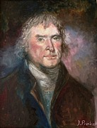 Thomas Jefferson Painting Prints - Thomas Jefferson Print by Irene Pomirchy