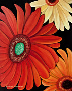 Barbara McMahon - Three Gerbera