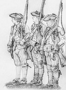 Randy Steele - Three Royal American Soldiers Sketch