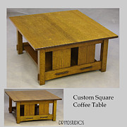 Coffee Table Sculptures - Through tenon square coffee table by Dryad Studios