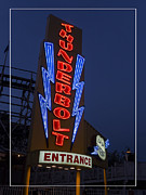 Edward Fielding - Thunderbolt Rollercoaster Neon Sign