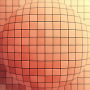 Futuristic Digital Art Posters - Tiled Sphere Poster by Wim Lanclus