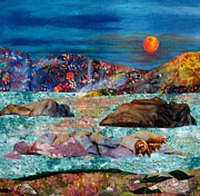 Rocks Tapestries - Textiles Originals - Time of Thaw by Maureen Wartski