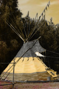 Indigenous Culture Framed Prints - Tipi Framed Print by Tommy Hammarsten