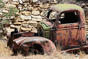 Broken Handle Framed Prints - Tired Truck Framed Print by Sharon Jones