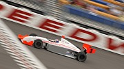 Indy Car Prints - To the Finish Line Print by Joni Potekhen