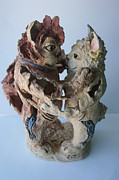 Fish Sculpture Ceramics - Todays  21st Century Cats by Susan  Brown  Slizys artist name