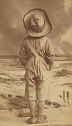 Tom Boy Prints - Tom Sawyer at the Beach Print by Paul Ashby Antique Image