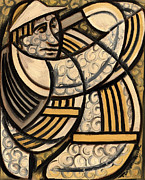 Golfer Paintings - Tommervik Miami Beach Art Deco Golfing Player by Tommervik