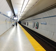 Commission Work Framed Prints - Toronto Subway Platform Framed Print by Valentino Visentini