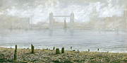 Eric Bellis Prints - Tower Bridge at Low Tide Print by Eric Bellis