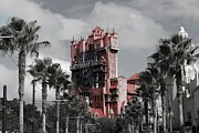 Disney Mixed Media - Tower of Terror  in color by Living Waters Photography