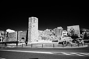 Roman Ruins Posters - Tower Of The Nuns On The Roman Circus Ruins Of Tarraco Unesco World Heritage Site Tarragona Cataloni Poster by Joe Fox