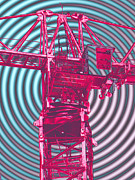 Tower Crane Posters - Towering 4 Poster by Wendy J St Christopher