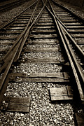 Railroad Ties Posters - Tracks into Tracks - 2 Poster by Paul W Faust -  Impressions of Light