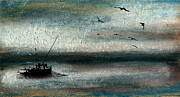 Seagull Pastels - Tranquil Sea by R Kyllo