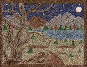 Field Tapestries - Textiles - Tree By The Lake by Jan Schlieper