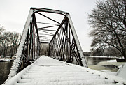 Winter Storm Nemo Art - Trestle Bridge After Nemo by Deborah Smolinske