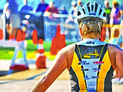 Action Sport Arts Prints - Triathlon 2 Print by Digital Photographic Arts