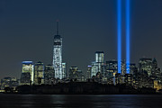 New York City Skyline Art - Tribute In Light 2013 by Susan Candelario