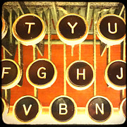 Pattern Books Framed Prints - TTV Typewriter Keys Framed Print by Tiffany Dawn Smith