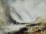 Snowstorm Art - Turner, Joseph Mallord William by Everett