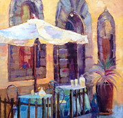 Daily Painter Prints - Tuscan Cafe Print by Carol Hopper