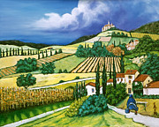Tuscan Fields Print by William Cain