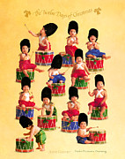 Christmas Art Posters - Twelve Drummers Drumming Poster by Anne Geddes