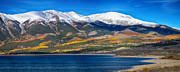 Fall Colors Autumn Colors Posters - Twin Lakes Colorado Autumn Panorama Poster by James Bo Insogna