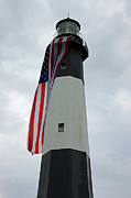 Suzanne Gaff - Tybee Island Lighthouse - Red White and...