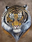 Amate Bark Paper Prints - Tyger Tyger Print by Anne Shoemaker-Magdaleno