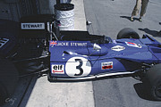 Indy Car Framed Prints - Tyrrell 004 1971 Jackie Stewart Framed Print by Curt Johnson
