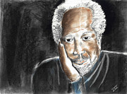 Black Family Pastels - Uncle Jack by David Jackson