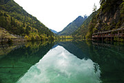 Unesco Landscpe Photostories Of Tibet Jiuzhaigou Fine Art Print by Sundeep Bhardwaj Kullu sundeepkulluDOTcom