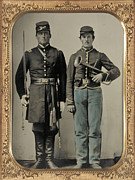 Antique Photography Framed Prints - Union Soldiers Framed Print by Gary Grayson