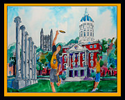 Quad Painting Posters - University of Missouri - Francis Quadrangle Poster by Dennis Weiser