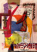 Mccoy Mixed Media Posters - Untitled -Tribal Rhythms Series 2002 Poster by Everett Spruill