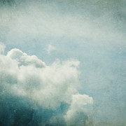 Blue Clouds Prints - Up There Print by Violet Damyan