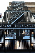 Wingsdomain Art and Photography - Urban Fabric - Fire Escape Stairs -...