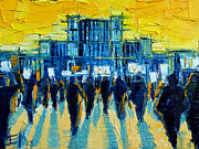 Eastern Europe Painting Prints - Urban Story - The Romanian Revolution Print by EMONA Art