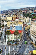 Venugopal Framed Prints - Valparaiso - Color Palette City Framed Print by Kesavan Venugopal