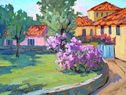Wineries Painting Prints - Van Gogh Hospital St. Remy Print by Diane McClary
